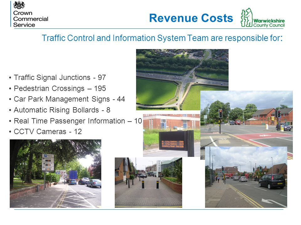 Traffic Control and Information System Team are responsible for : Traffic Signal Junctions - 97 Pedestrian Crossings – 195 Car Park Management Signs -