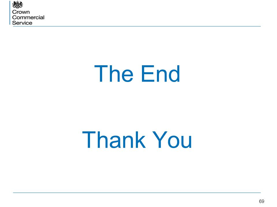 69 The End Thank You