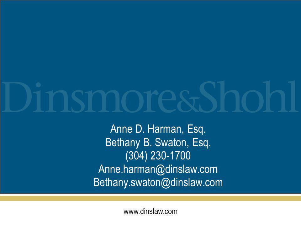 www.dinslaw.com Anne D. Harman, Esq. Bethany B. Swaton, Esq.