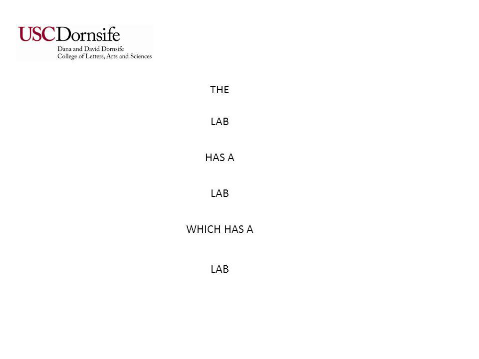 THE LAB HAS A LAB WHICH HAS A LAB BRADFORTH CHEMISTRY LASER