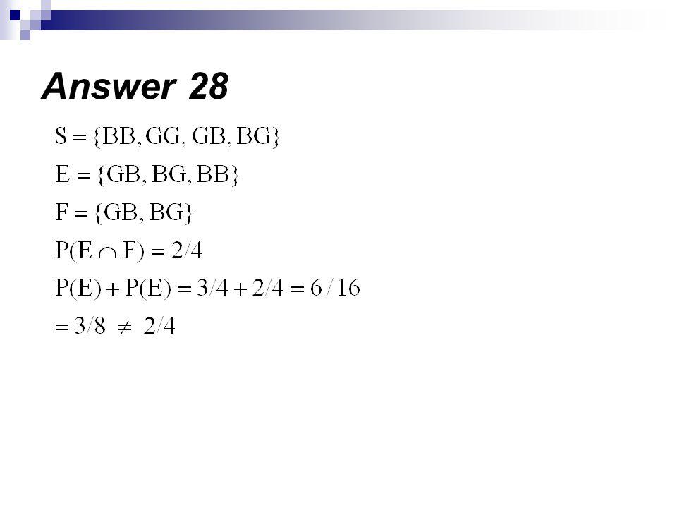 Answer 28