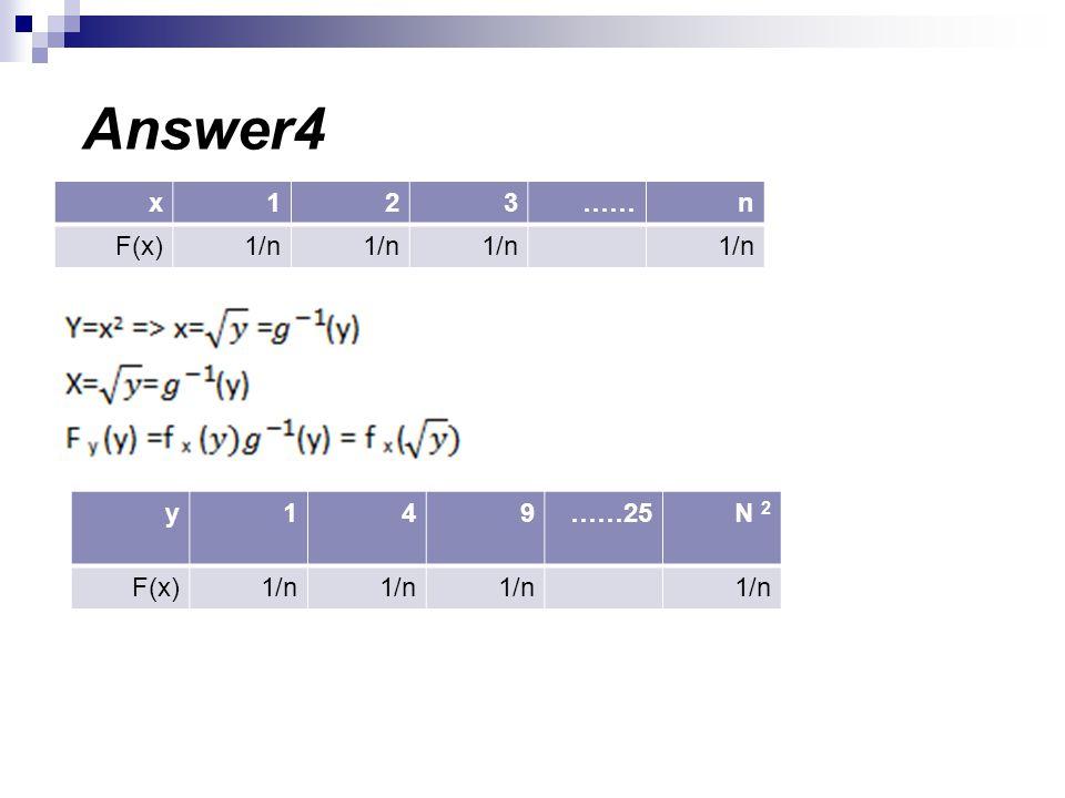 n……321x 1/n F(x) N 2 ……25941y 1/n F(x) Answer4