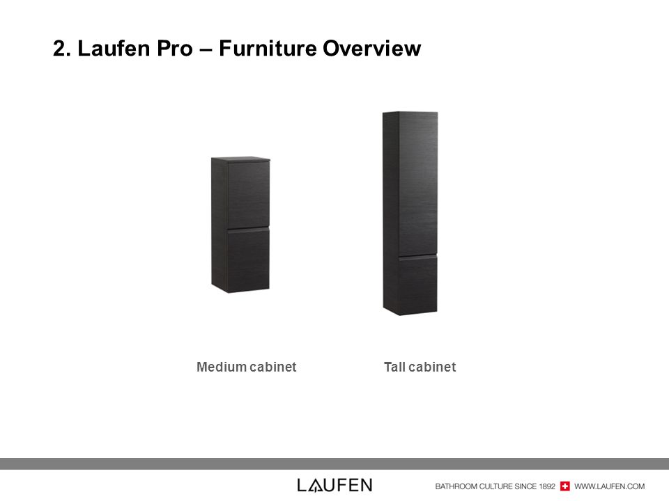 2. Laufen Pro – Furniture Overview Medium cabinetTall cabinet