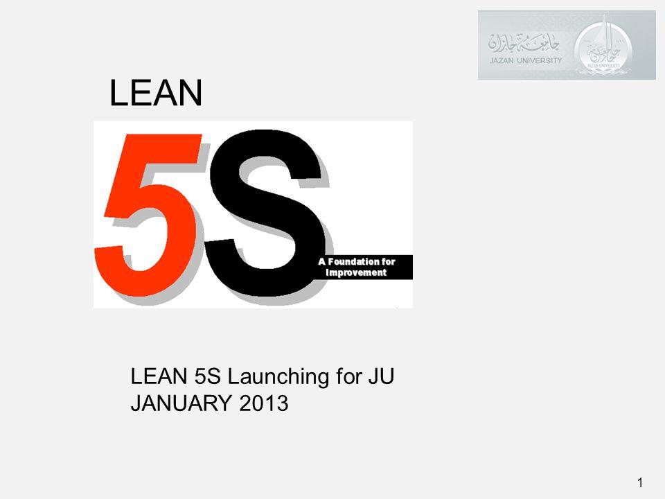 1 LEAN 5S Launching for JU JANUARY 2013 LEAN