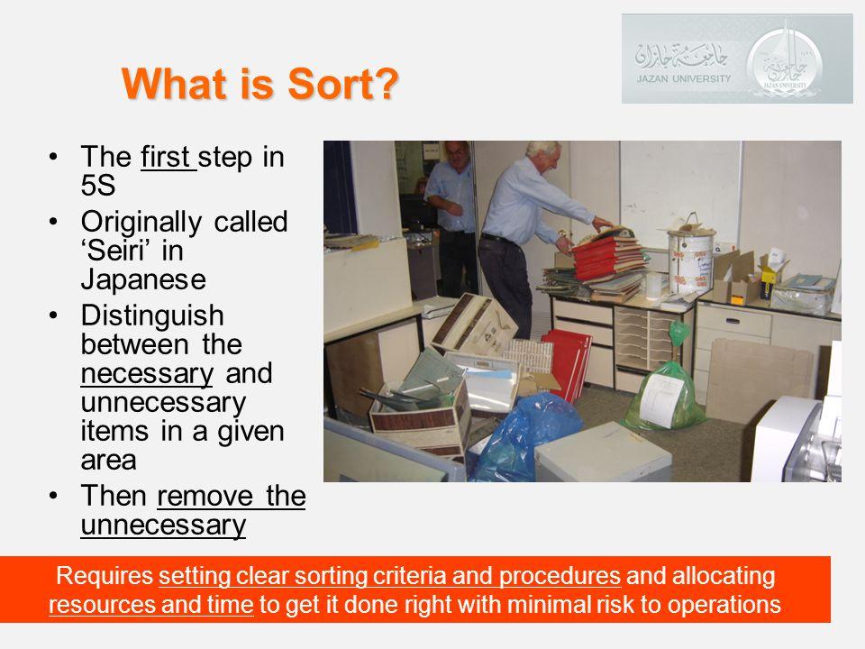 SeiriSort فرز, عاشر, نظم, رتب OrganizationDispose STEP 1