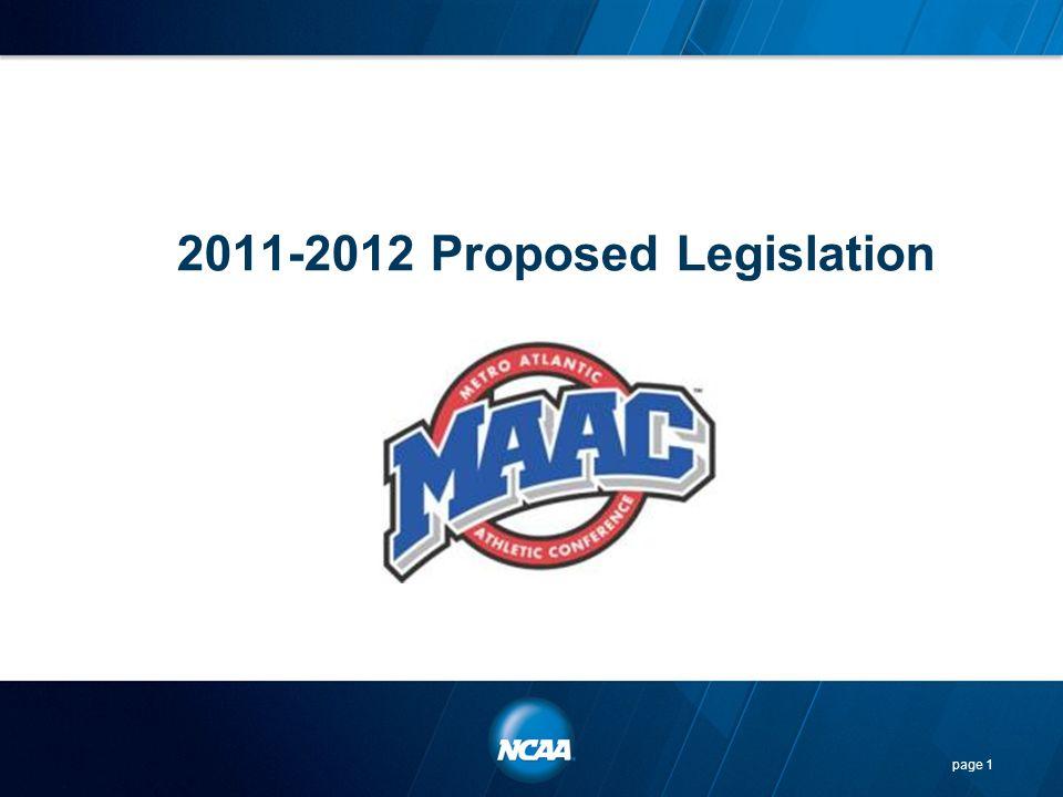 2011-2012 Proposed Legislation page 1
