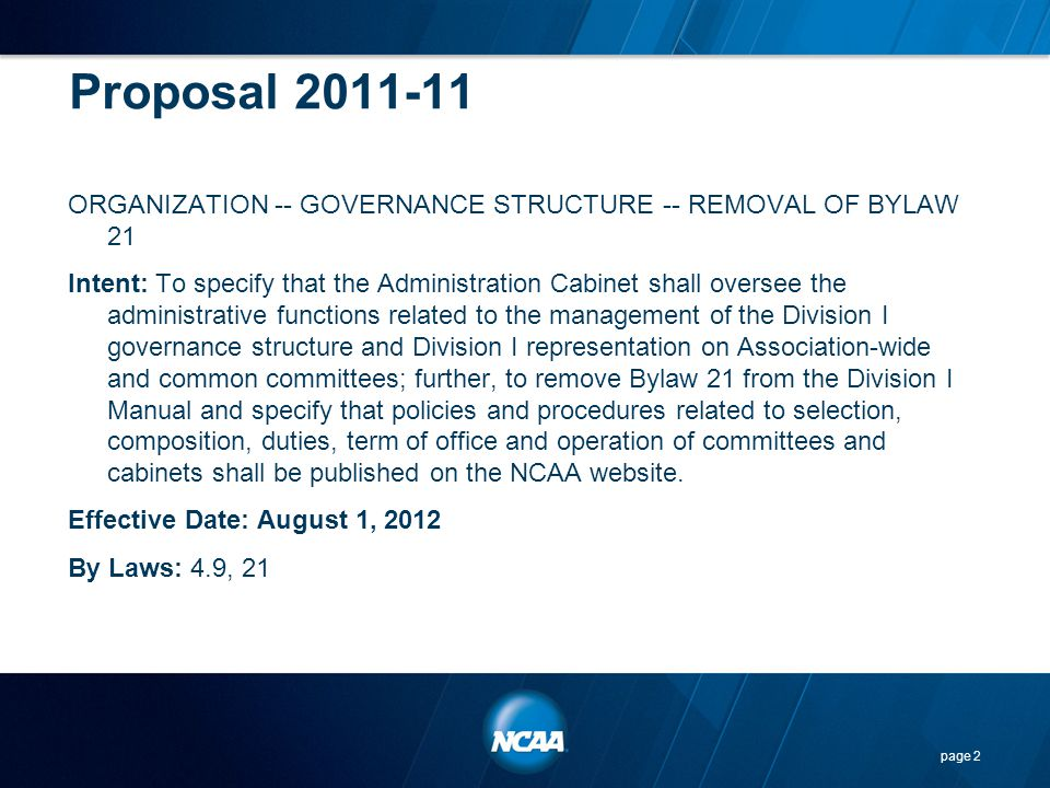 Points To Consider… This proposal applies the principle of the season of competition exception currently available in women s volleyball, men s and women s soccer, field hockey and men s water polo to softball.
