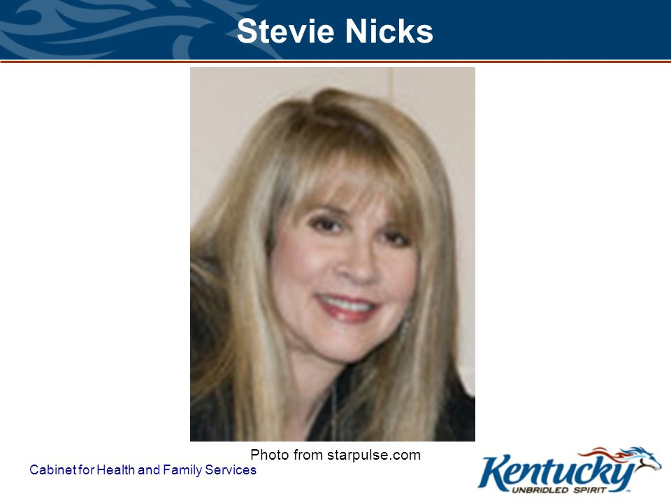 Cabinet for Health and Family Services Stevie Nicks Photo from starpulse.com