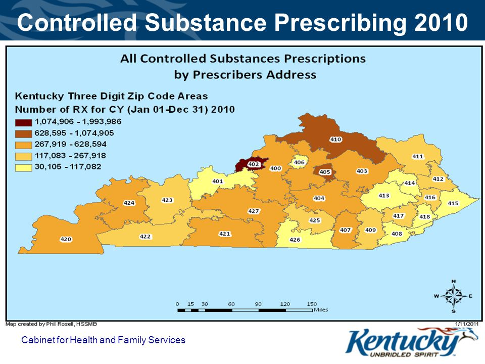 Cabinet for Health and Family Services Controlled Substance Prescribing 2010
