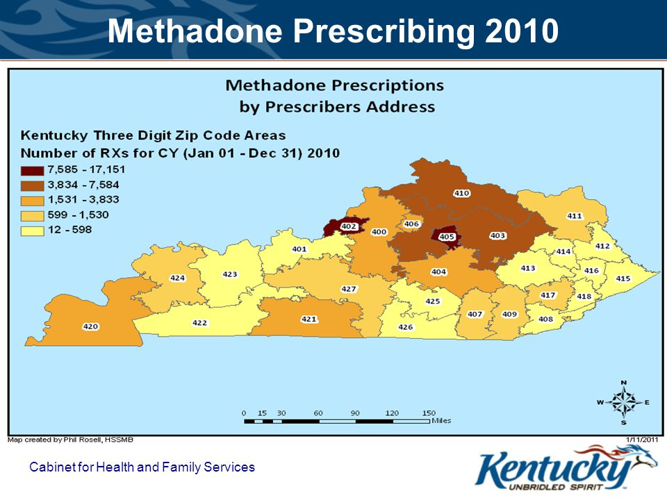 Cabinet for Health and Family Services Methadone Prescribing 2010