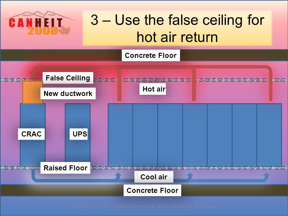 4 – Prevent heat leakage between rows Do not leave openings in the racks.
