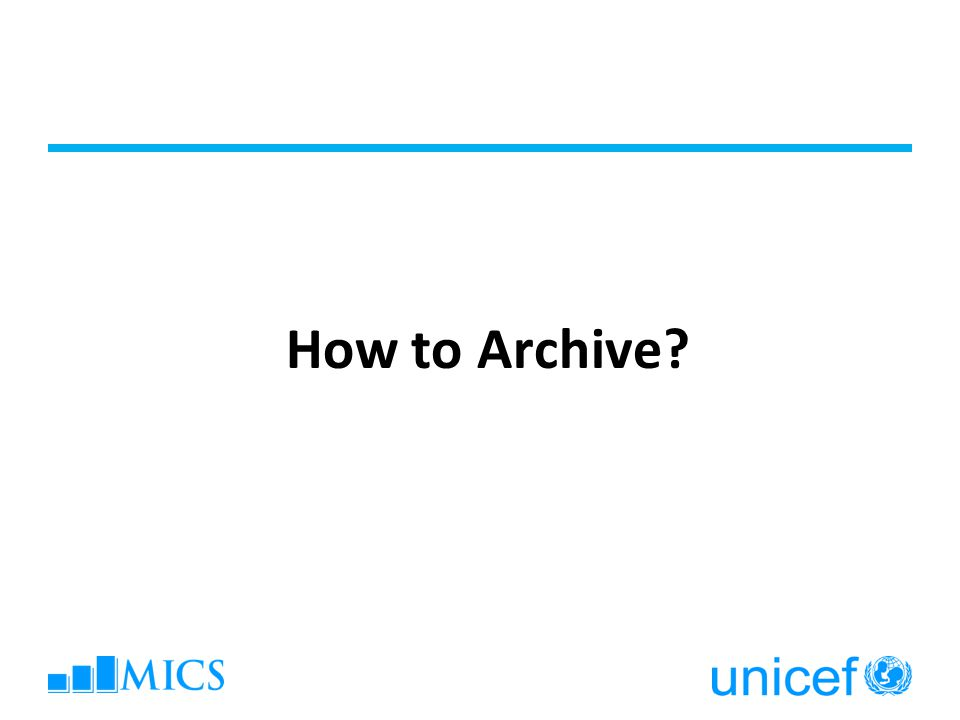 How to Archive