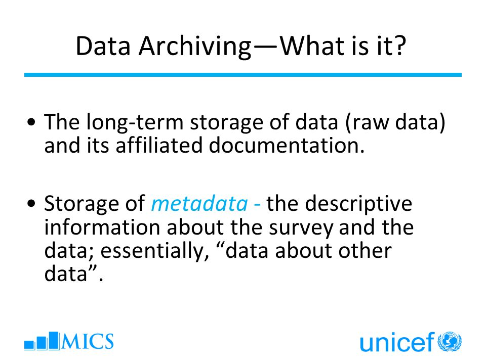 What does a survey archive look like.