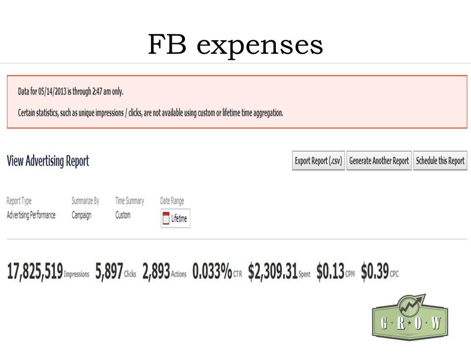 FB expenses