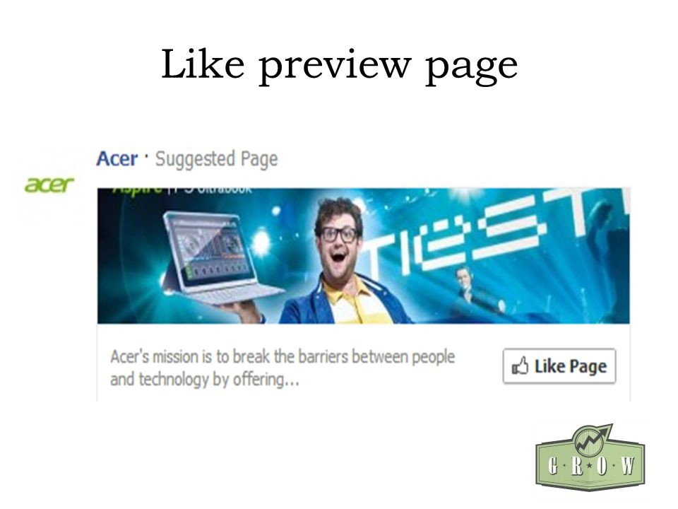 Like preview page