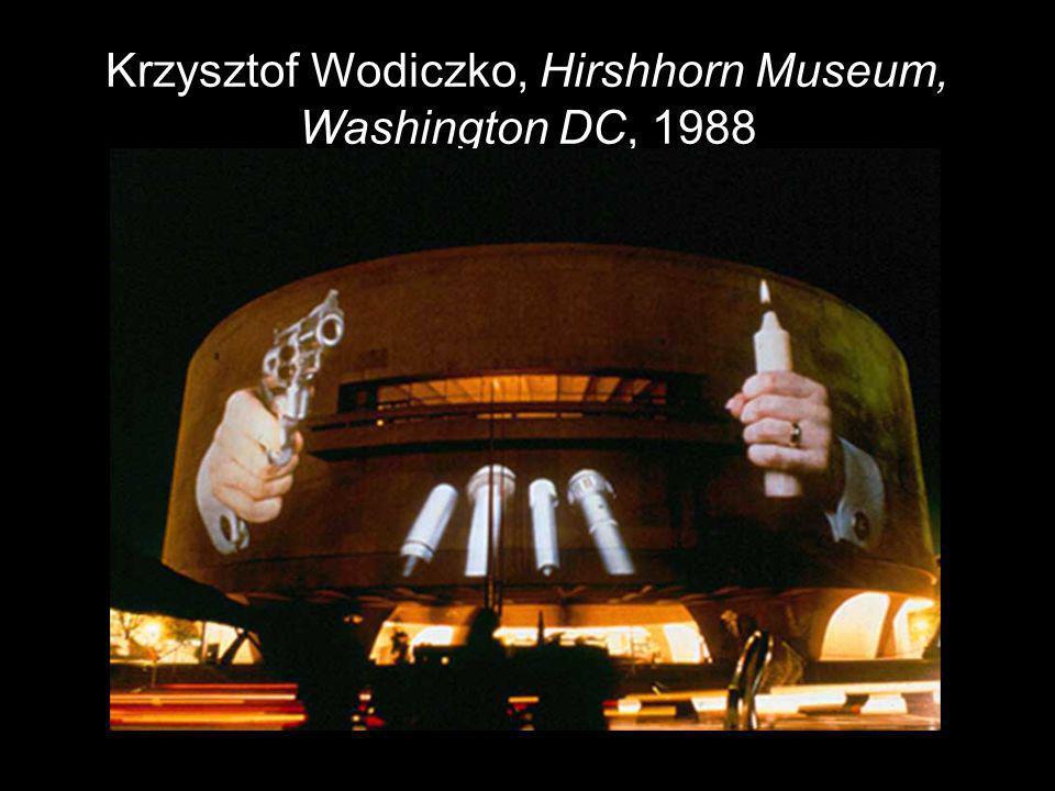 Krzysztof Wodiczko, Hirshhorn Museum, Washington DC, 1988
