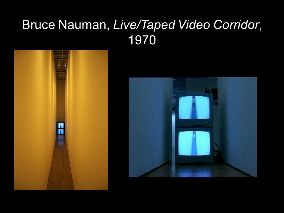 Bruce Nauman, Live/Taped Video Corridor, 1970