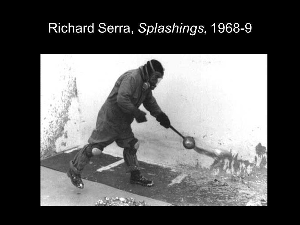 Richard Serra, Splashings, 1968-9