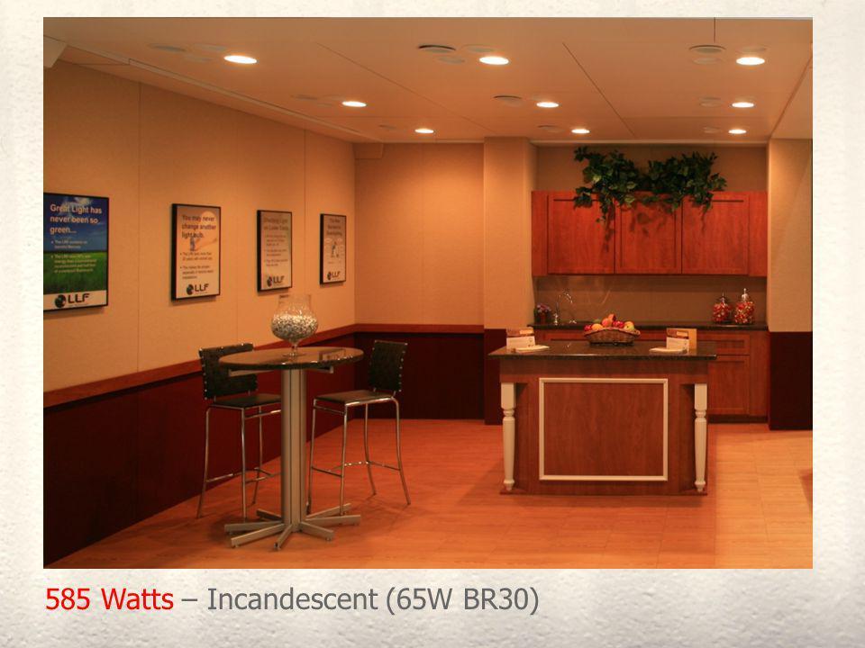 585 Watts – Incandescent (65W BR30)