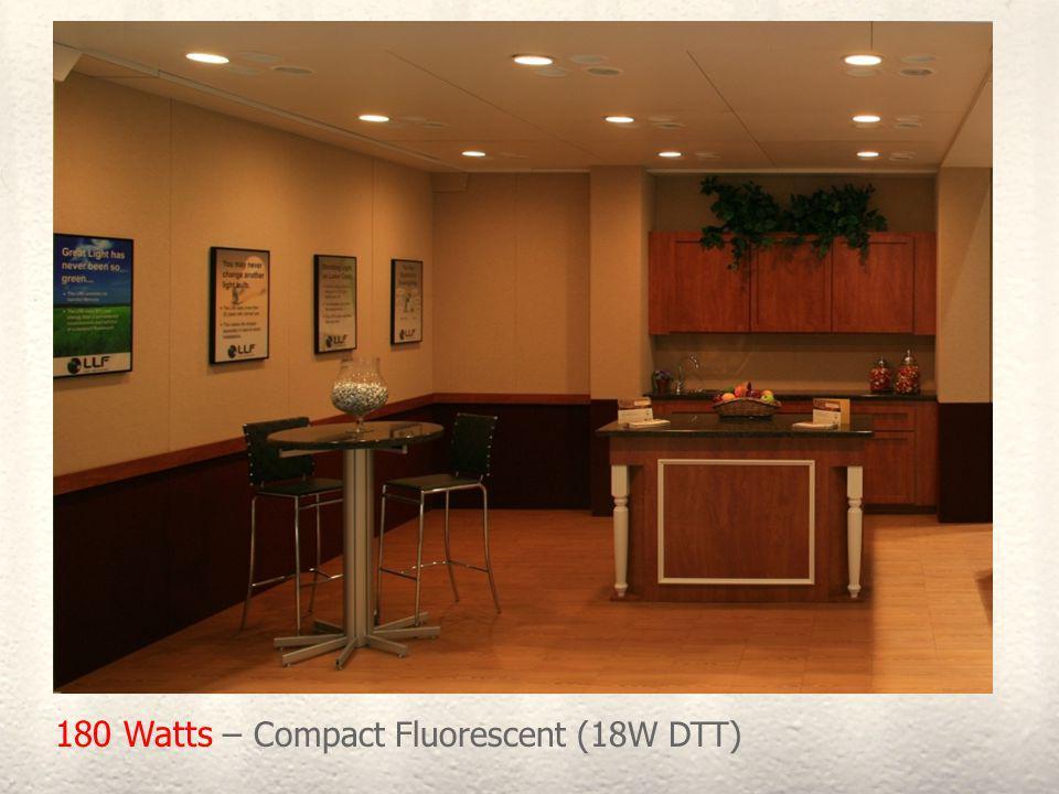 180 Watts – Compact Fluorescent (18W DTT)