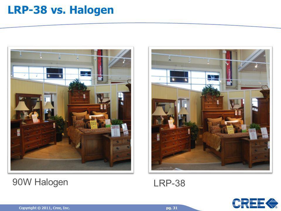 90W Halogen LRP-38 LRP-38 vs. Halogen Copyright © 2011, Cree, Inc.pg. 31