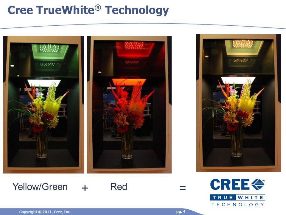 Cree TrueWhite ® Technology Yellow/GreenRed += Copyright © 2011, Cree, Inc. pg. 4