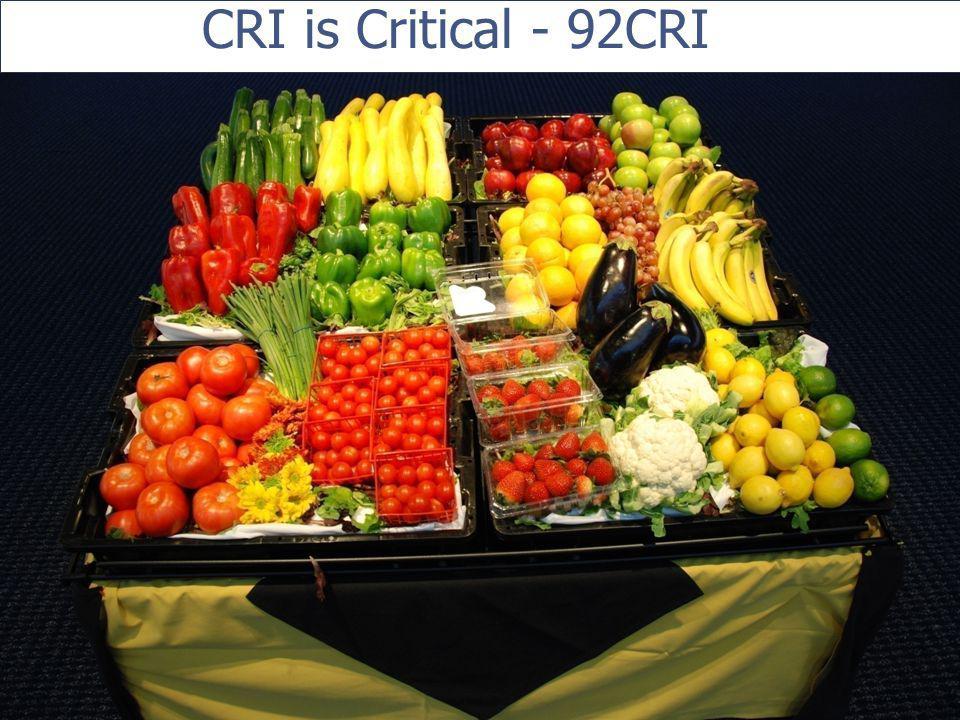 CRI is Critical - 92CRI