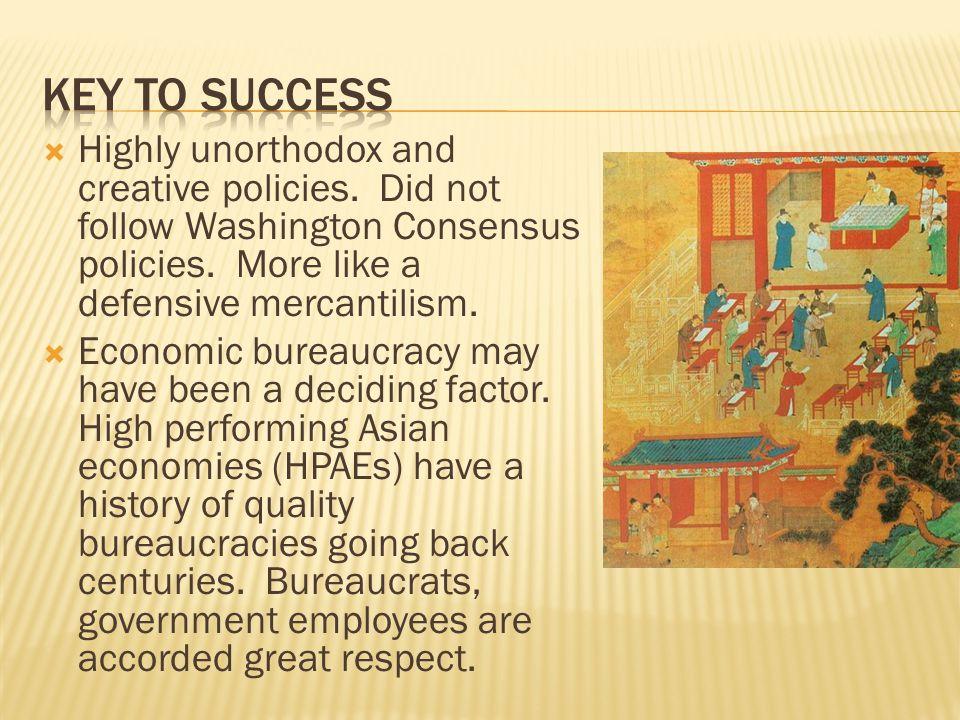 Highly unorthodox and creative policies.Did not follow Washington Consensus policies.