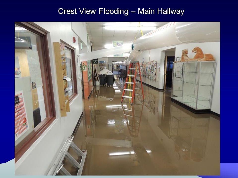 Crest View Flooding – Main Hallway