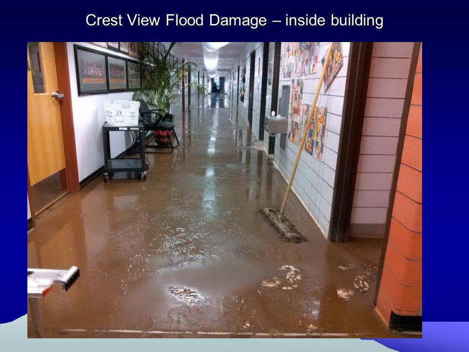 Crest View Flood Damage – inside building