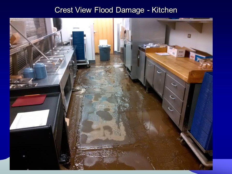 Crest View Flood Damage - Kitchen