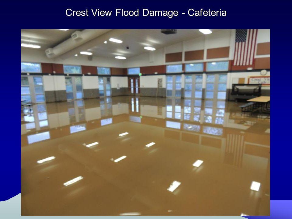 Crest View Flood Damage - Cafeteria