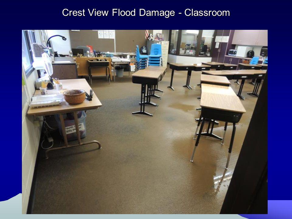 Crest View Flood Damage - Classroom