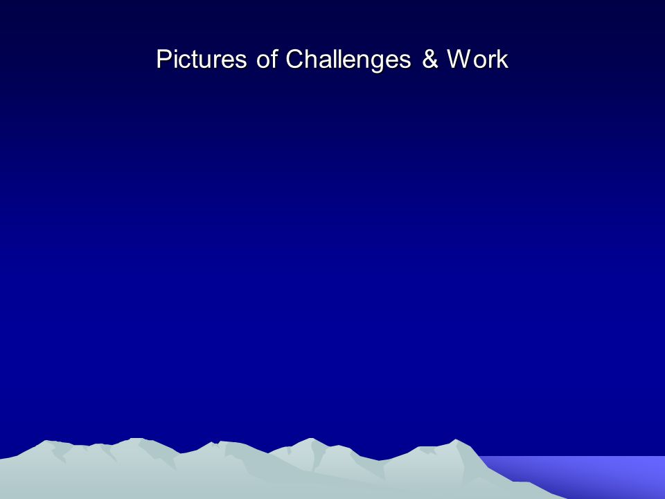Pictures of Challenges & Work