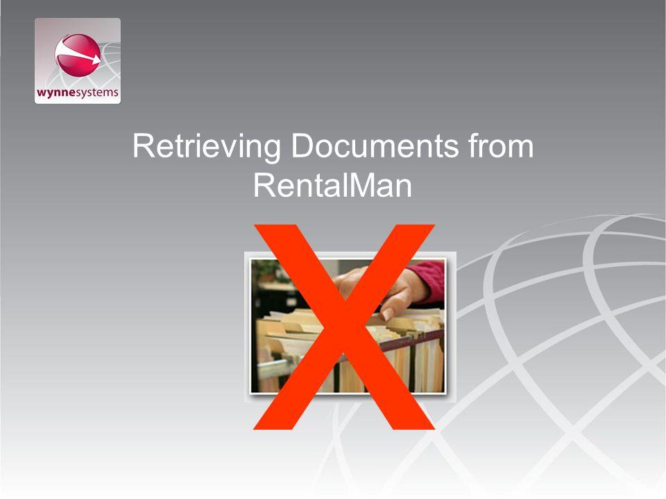 Retrieving Documents from RentalMan x