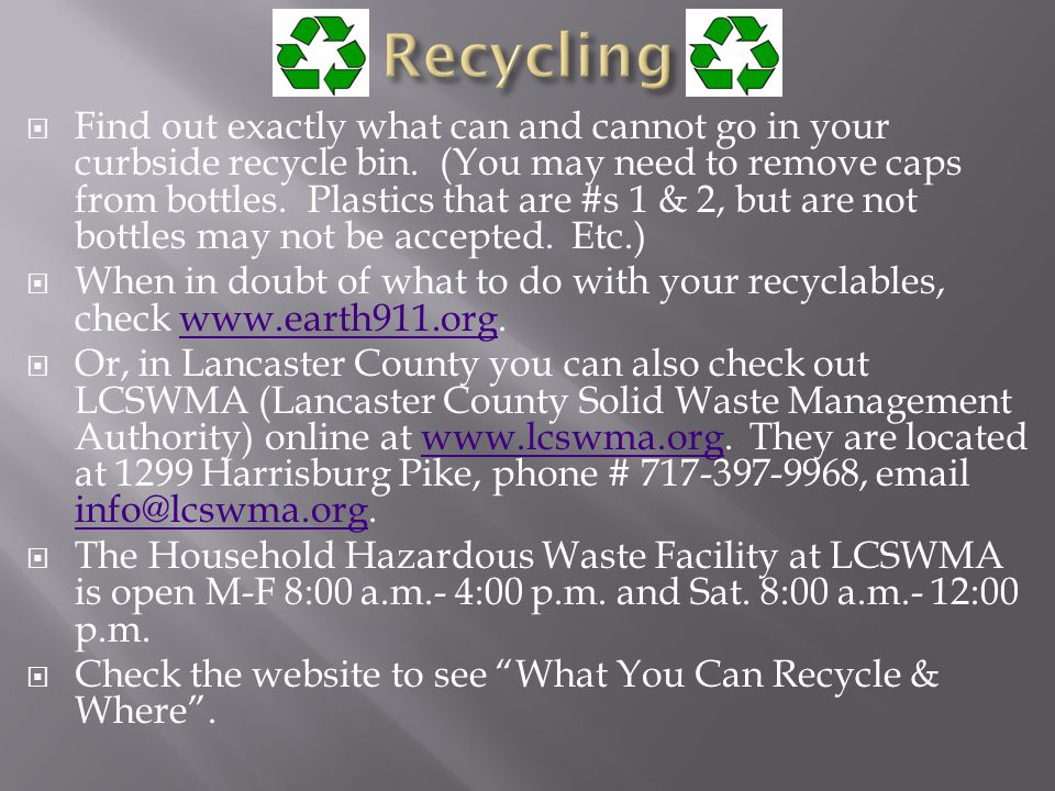 Find out exactly what can and cannot go in your curbside recycle bin.