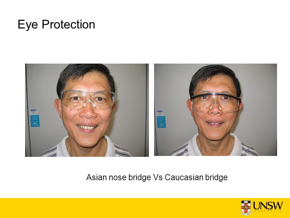 Eye Protection Asian nose bridge Vs Caucasian bridge
