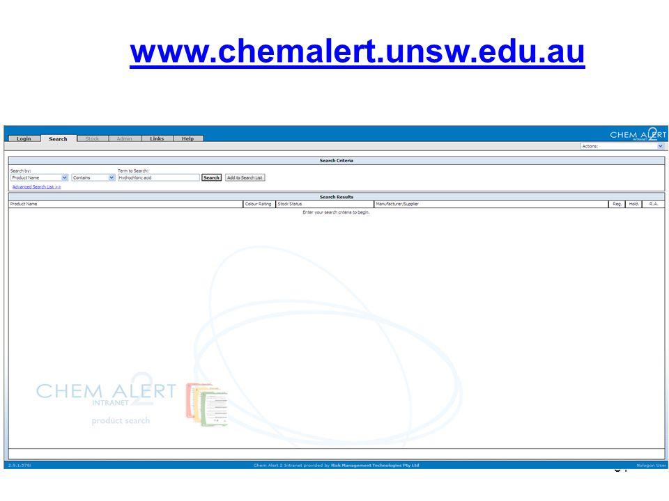 81 www.chemalert.unsw.edu.au