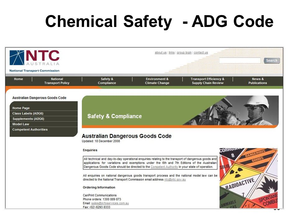 90 Chemical Safety - ADG Code