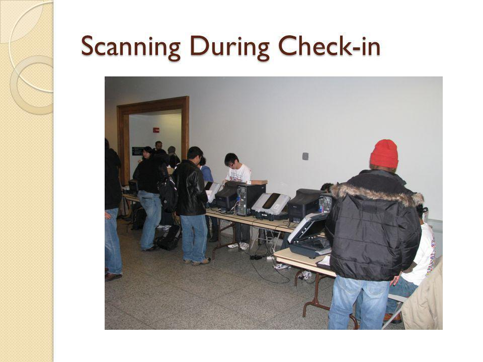 Scanning During Check-in