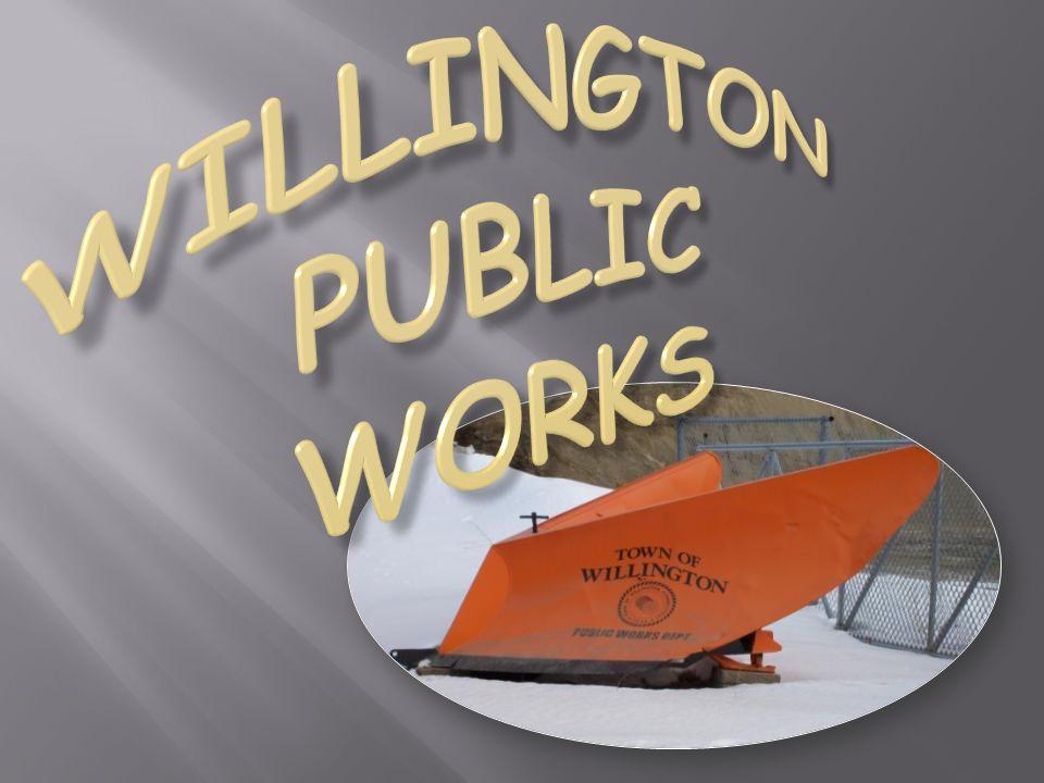 Each year Public Works, Willington Fire Dept.