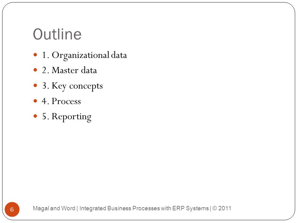 Data in a Purchase Requisition 57 Magal and Word | Integrated Business Processes with ERP Systems | © 2011