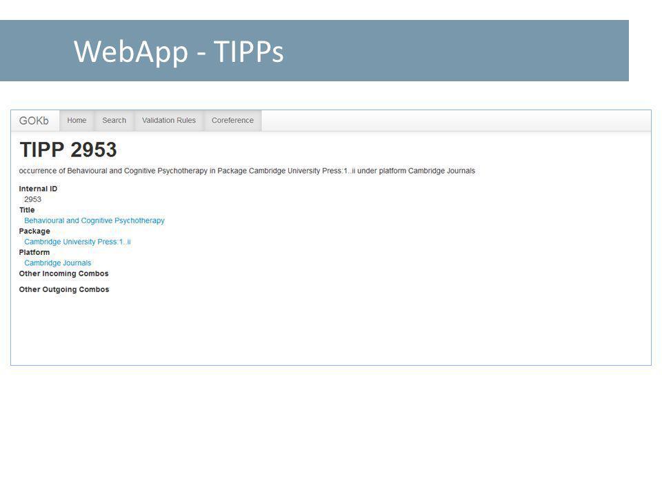 WebApp - TIPPs