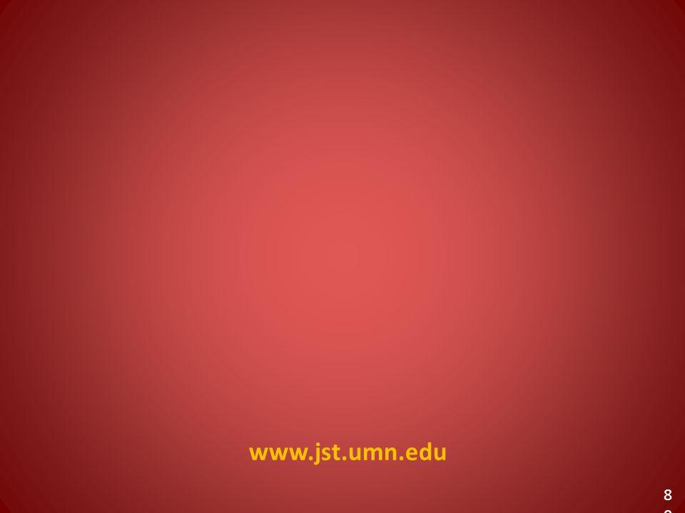 www.jst.umn.edu 80