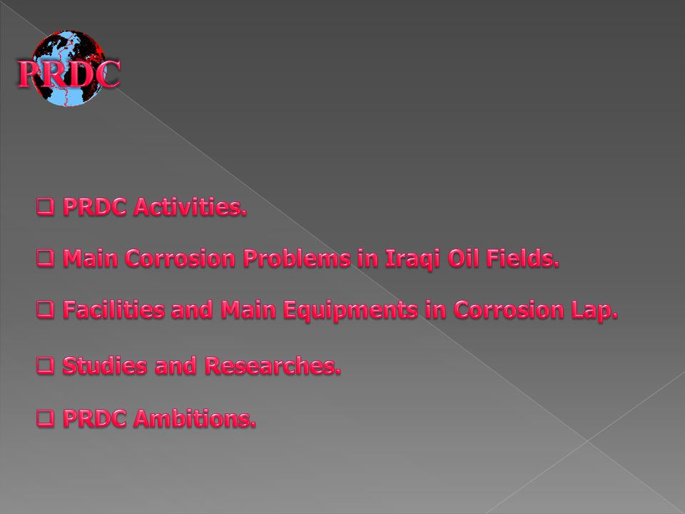 The Corrosion laboratories are Head Unit in the Environment and Corrosion Department in PRDC.