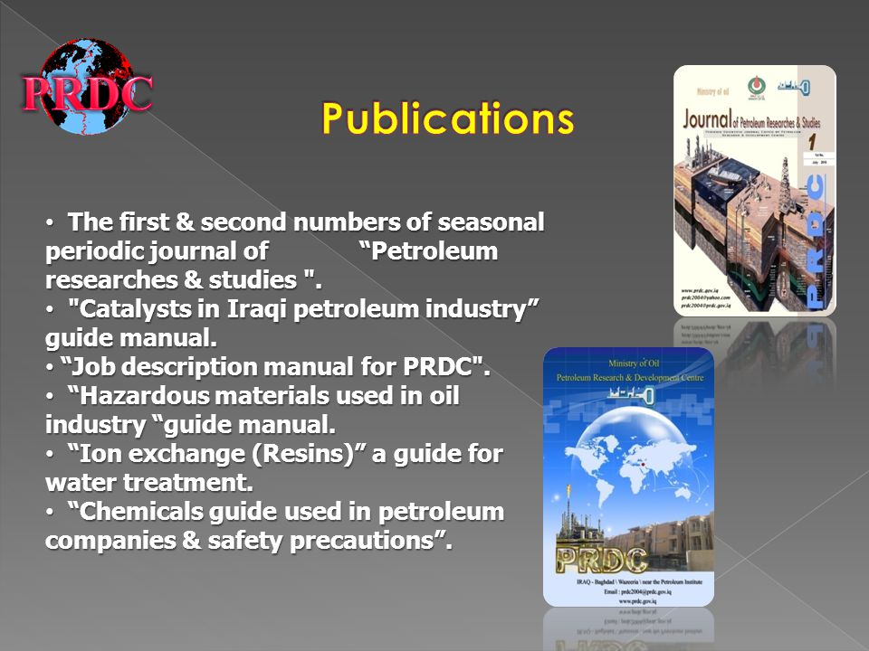 The first & second numbers of seasonal periodic journal of Petroleum researches & studies