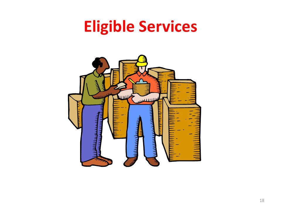 Eligible Services 18