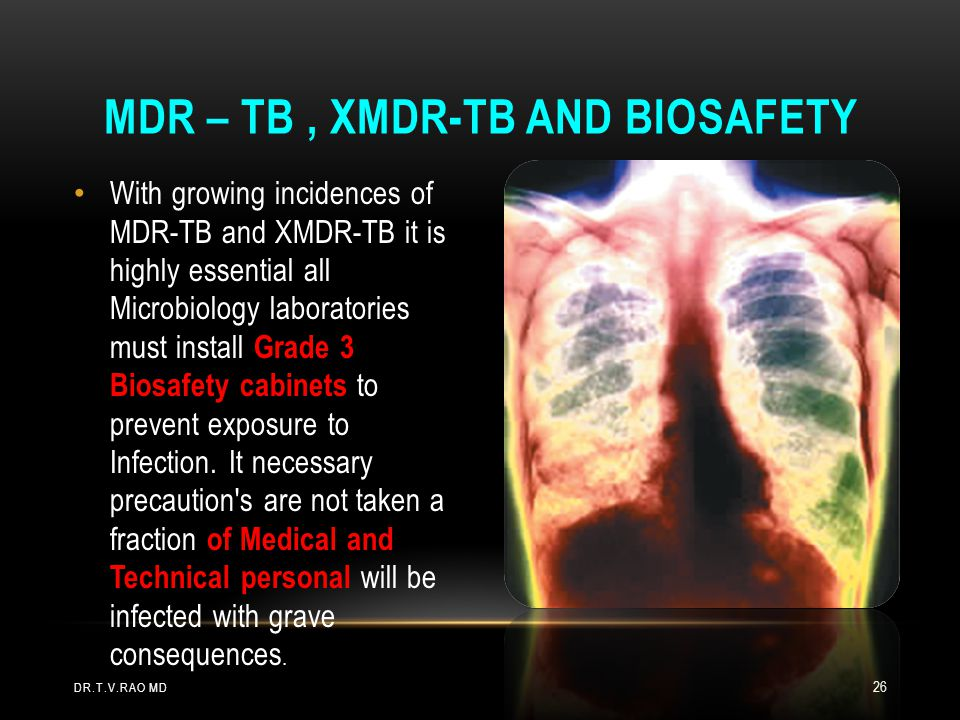 With growing incidences of MDR-TB and XMDR-TB it is highly essential all Microbiology laboratories must install Grade 3 Biosafety cabinets to prevent