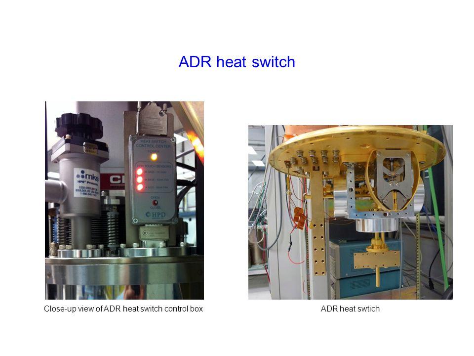 ADR heat switch Close-up view of ADR heat switch control boxADR heat swtich