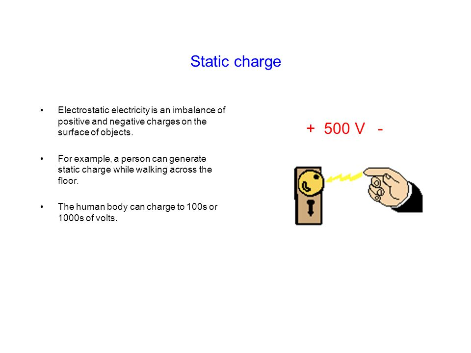 Test –Surface resistance (ohms/square) –Point to point resistance (ohms) –Ability to dissipate static Test equipment 55 Megohmmeter Static locator